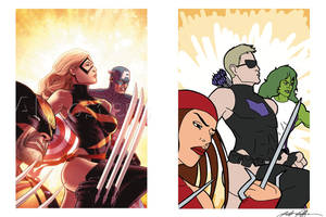 Hawkeye's Avengers by Sojourner41716