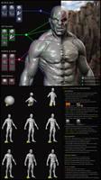 Prakta the Bloodborn - Sculpt - Breakdown/Tutorial by Leifart