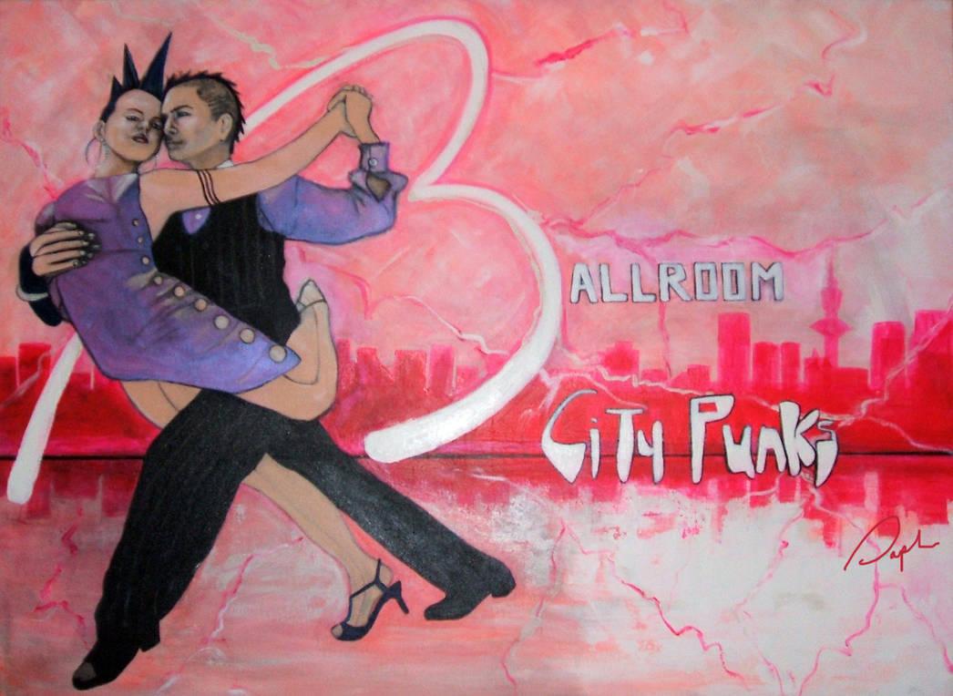 Ballroom city punks original signed by TerreDada