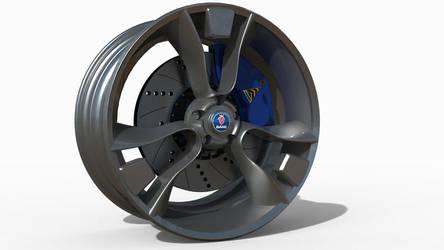 Wheel for Saab Sonett Viggen by mikelyden