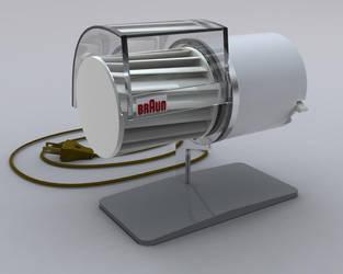 Braun HL1 Desk Fan - 3D Model + Render by mikelyden