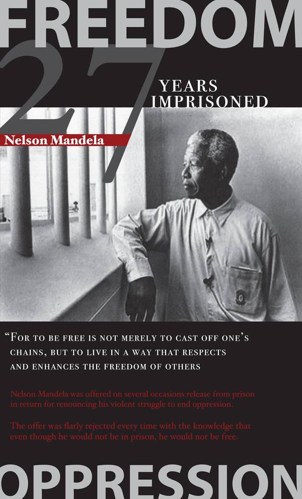 Nelson Mandela Poster by 4saken23