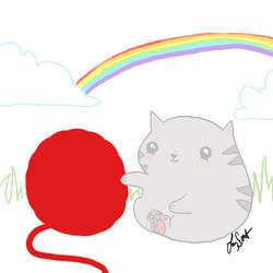 Grey Kitten Concept 2 by WisdomsPearl