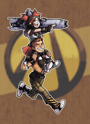 Gaige / Axton [borderlands 2] by Nyarlah