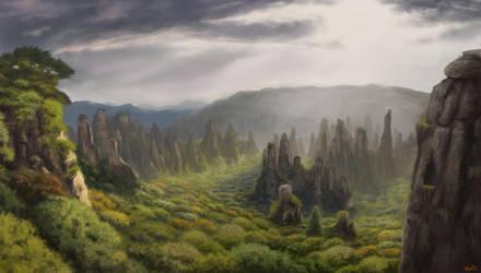 Eastern peaks by Fryenn