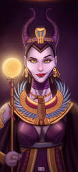 Maleficent the pharaoh Queen by amonir1981