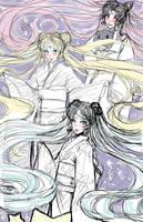 Kimono Sailors by Takumy