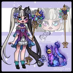 [Whisper] Nebula Cat (Closed) by Nephele-Draws