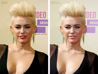 Miley Cyrus Retouch + Touch Up by asmith9O
