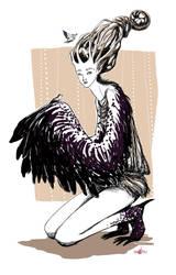 mama bird by bideru