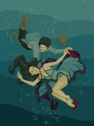 i'm drowning not. by bideru