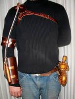 Functional Steampunk Wrist Gun by Macabre151