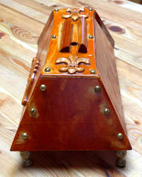 Solid Wood Steampunk iPhone Dock by Macabre151