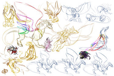 Lucemon Holy Mode Anatomy Sketches by Excellency-Shinigami