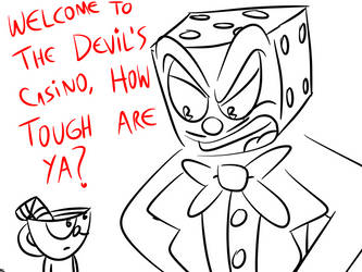 Cuphead Comic - How tough are ya? by DrawnGuy by DrawnGuy