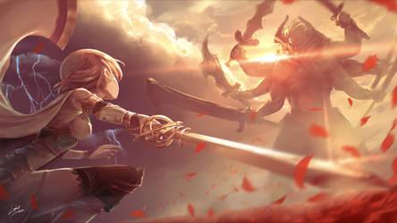 Brave Frontier - Showdown by litkung