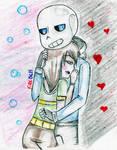 undertale_ sans valentine by queenfirebell