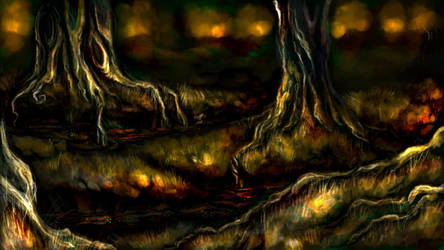 Brushes Experiment - Swamp by Daimera