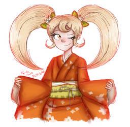 Danganronpa - Hiyoko Saionji by Kasi-Ona