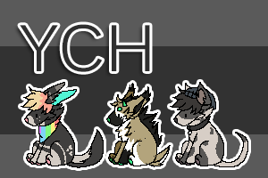 50 points| sitting pixel pup | YCH OPEN by Zanyshi