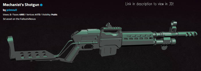 Mechanist's Shotgun -3d resource- by primnull