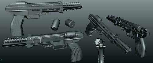 Gotham Laser Pistol (3d resource) by primnull