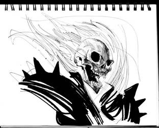 Ghost Rider Sketch by dogmeatsausage