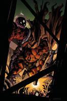 Hellboy color by dogmeatsausage