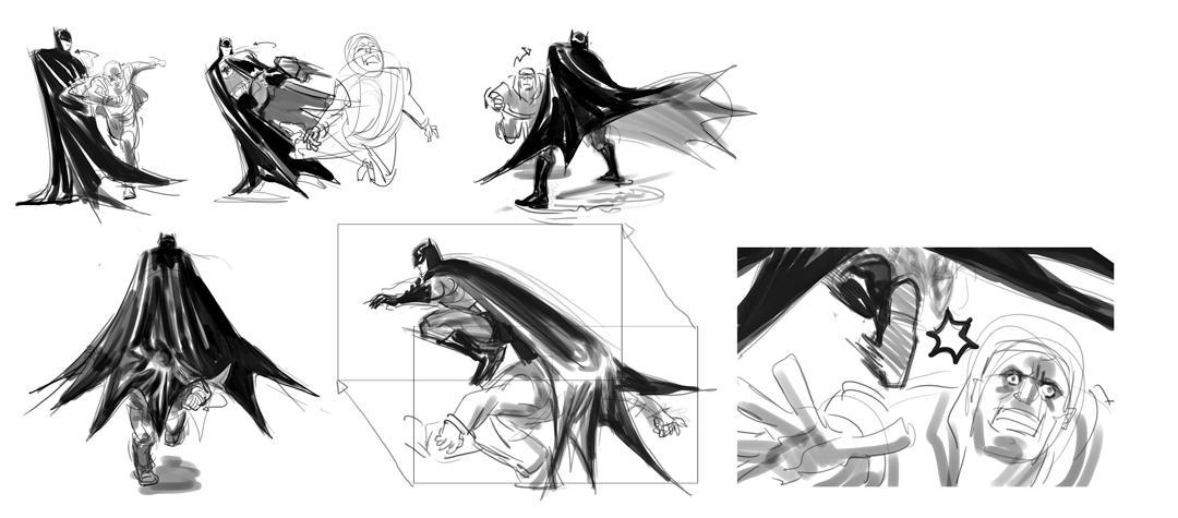 Batman Fight by dogmeatsausage