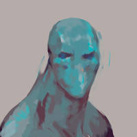 blue man by dogmeatsausage