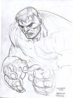 kirby Hulk by dogmeatsausage