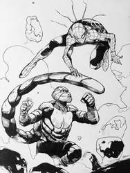 Spider-Man vs scorpion  by dogmeatsausage