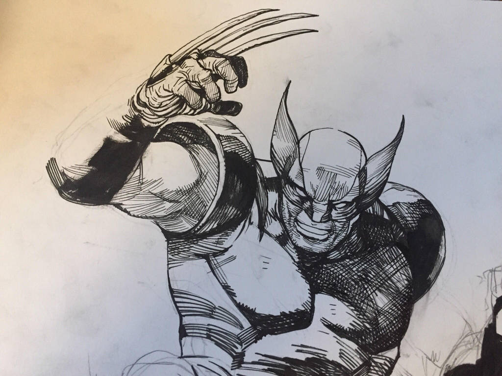 Wolverine wip  by dogmeatsausage