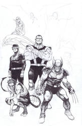 uncanny X-men study by dogmeatsausage