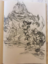 Tmnt commission sketch  by dogmeatsausage