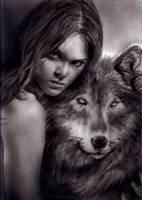 Wolf eyes by KayIglerART