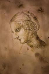 Portrait (Ink) da Vinci Style by KayIglerART