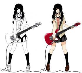 Guitar Girl Concept Art by KayIglerART