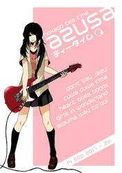 Guitar Girl Poster by KayIglerART