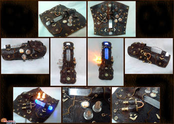 Steampunk Bracer of Light by RawringCrafts