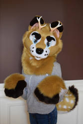 Deer Dog Partial For Sale *Back Up Again* by SoulBoundFursuits