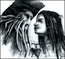PotC - Davy Jones and Calypso by YanamiChan