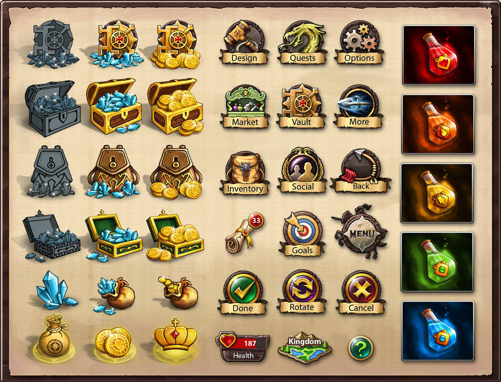 Icons for 'Kingdom of Heroes' by nasar-ullah-khan