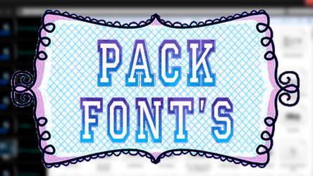 Pack +400 Fonts by Vivi-Neko