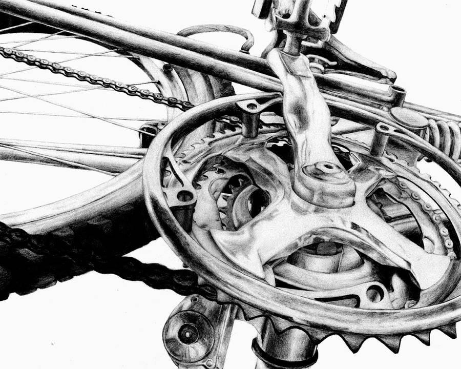 Risd Bike Drawing By 4lackofnethingbetter On Deviantart