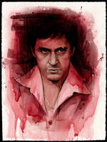 Al Pacino as Tony Montana by JW-Jeong