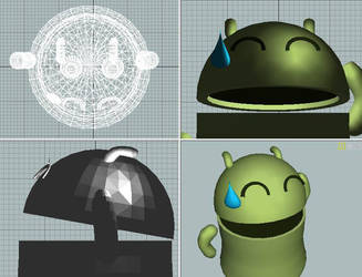 Cute Android 3D by Jonnypaes