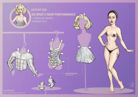 Lady Gaga Paper Doll: Marilyn Style at AMA 2013 by DibuMadHatter