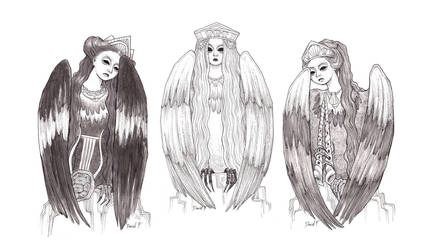 The Three Greek Sirens by DibuMadHatter