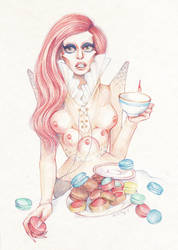Alien Goddess' tea time by DibuMadHatter